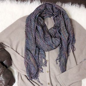 """Charming Charlie Multi-colored Scarf NWT about 68"""""""